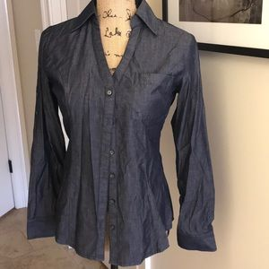 Express chambray long sleeve button up